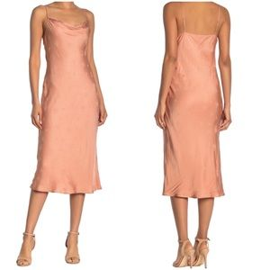 NWT Joie Marcenna B Floral Midi Dress Blush